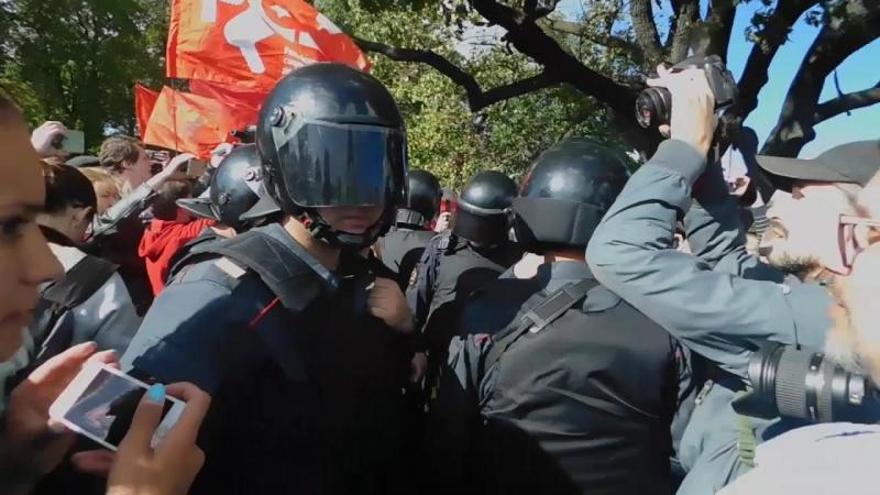 Митинг против пенсионного грабежа. 16.09 ЗАКС.Ру