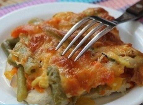 Вкуснейший куриный стейк с овощами!