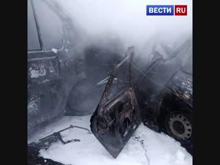Полиция обнародовала кадры страшной аварии с летальным исходом в Челябинской области