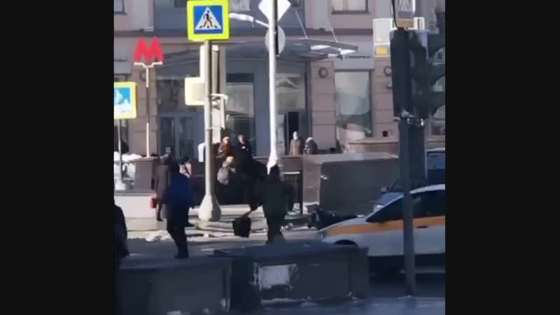 Коза центре Москвы