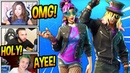 STREAMERS REACT TO *NEW* STAGE SLAYER SYNTH STAR SKINS HOT RIDE GLIDER Fortnite FUNNY Moments