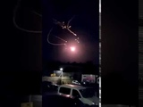Raw Footage Israel Iron Dome System Intercepted Hamas Rockets