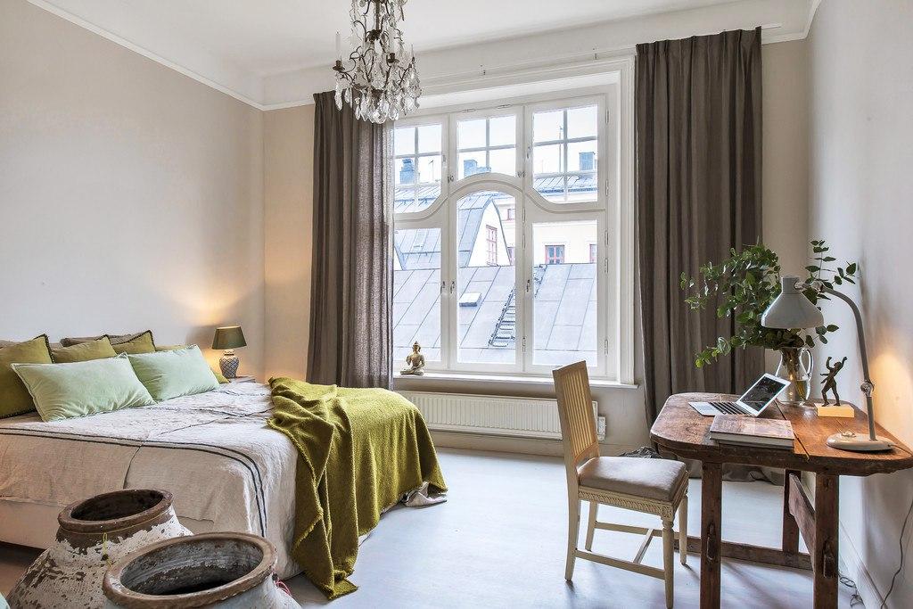 93 квадратных метра в центре Стокгольма - очень интересный интерьер