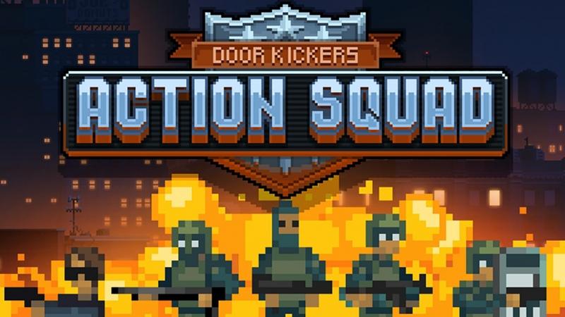 Аркада от третьего лица сбоку стрелялка как в денди обзор геймплея игры Door Kickers Action Squad