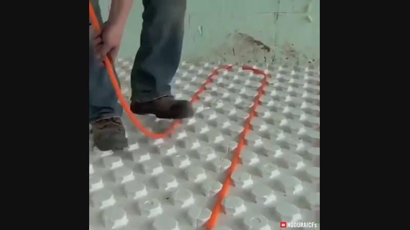 Система для укладки теплого пола - Строим дом своими руками