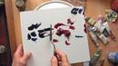 Абстрактная живопись мастихином Проба 1