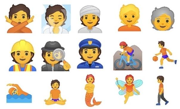 Google представил 53 гендерно-нейтральных эмодзи