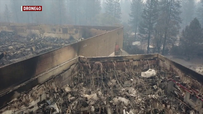 Paradise Gone Drone video shows devastation from deadly Camp Fire in Butte County