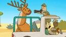 Carros de brinquedo. Vamos pra um safari! Animação infantil.