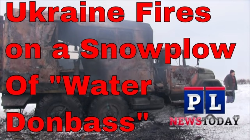 3 Injured as Ukraine Fires on Snowplow (ENG SUBS) Ukraine DPR Russia