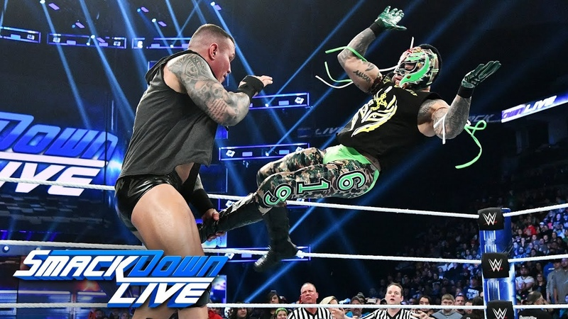 Randy Orton attacks an injured Rey Mysterio SmackDown LIVE Nov 27 2018