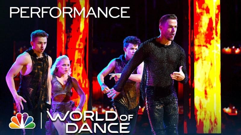 Derek Hough, Michael Dameski Charity Andres Perform to Pushing On - World of Dance World Final