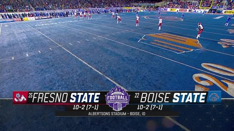 NCAAF 2018 / Week 14 / Mountain West Championship / (25) Fresno State Bulldogs - (22) Boise State Broncos / 1H / EN