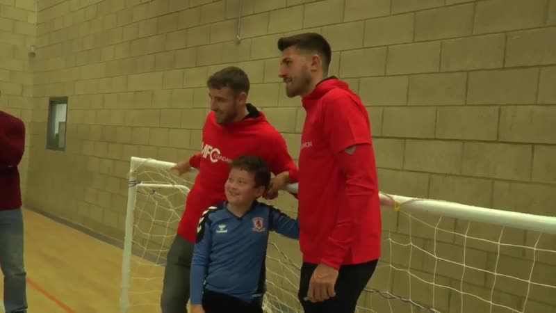 Danny Batth and Sam McQueen Guest Coaches At Borobility Cerebral Palsy Session