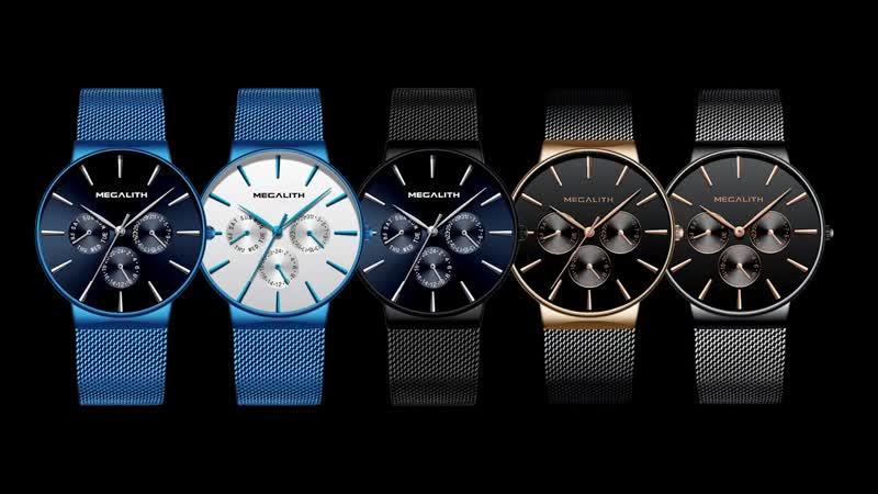 Оптовая цена MEGALITH часы мужские s спортивные водонепроницаемые