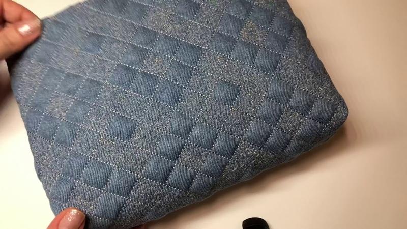 Шьем джинсовую сумочку косметичку Джинсовый орнамент