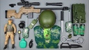Toy Rifle AWM ! Military Toy Gun and Knife Arsenal - Soldier Helmet and Kevlar