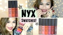 NYX Soft Matte Lip Cream SWATCHES Copenhagen Prague Morocco Abu Dhabi Buenos Aires