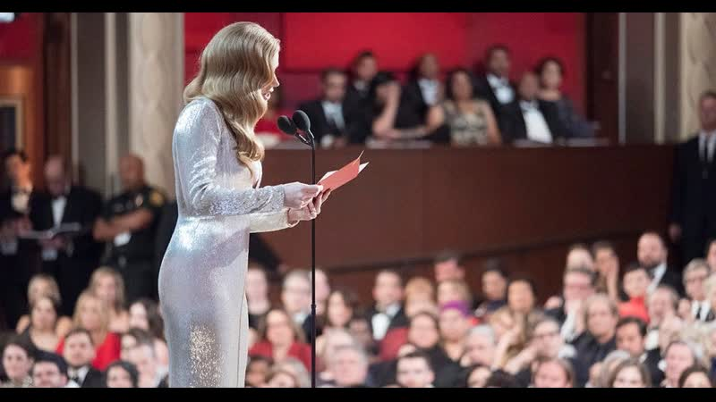 Best Supporting Actress nominee Amy Adams watches for the tradition