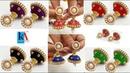 How to Make Designer Fancy Silk Thread Jhumkas at Home Bridal Earring Tutorial