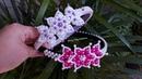 Tiara com flor renda francesa_ curso de tiara aula 2 gleicykellybarbosa