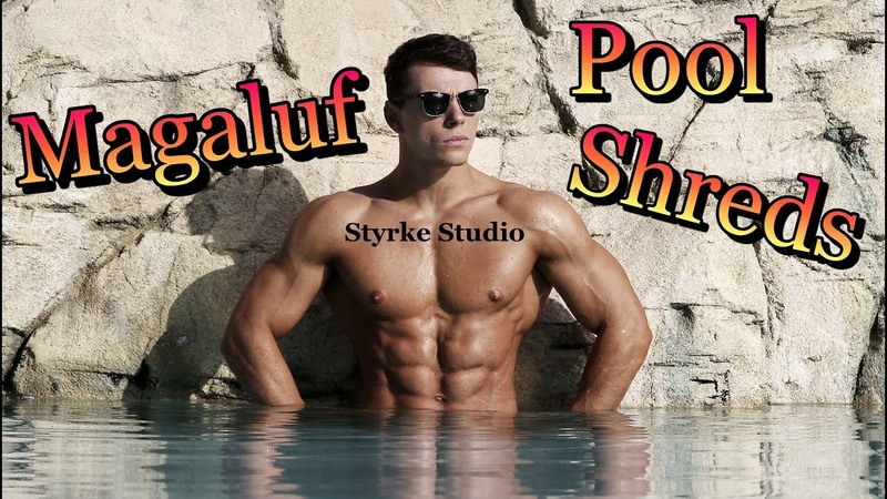 MAGALUF Fitness Model Poolside Shreds Elliot Robinson Styrke Studio Ibiza