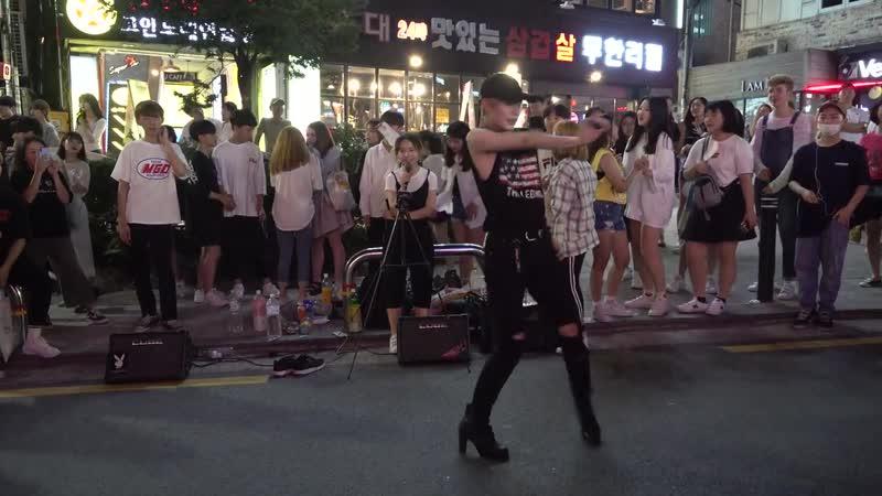 홍대 연합댄스팀 - 효린(HYOLYN) - 달리(Dally) - 홍대걷고싶은거리 버스킹 2018.07.29일.hnh