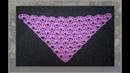 Вяжем шаль крючком Виолетта