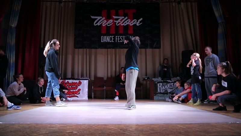 Hit The Floor vol.4 hip-hop beginners 14 Mavi (win) vs Melison