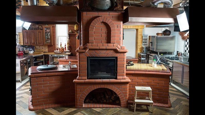 Строительство уличной кухни Печь казан мангал на дровах Сталик Ханкишиев
