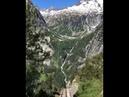Крутая Железная дорога в горах Швейцарии