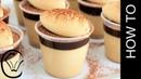 ( lakomkavk) Coffee Panna Cotta with Caramel Cheesecake and Chocolate Sauce No Bake and Eggless