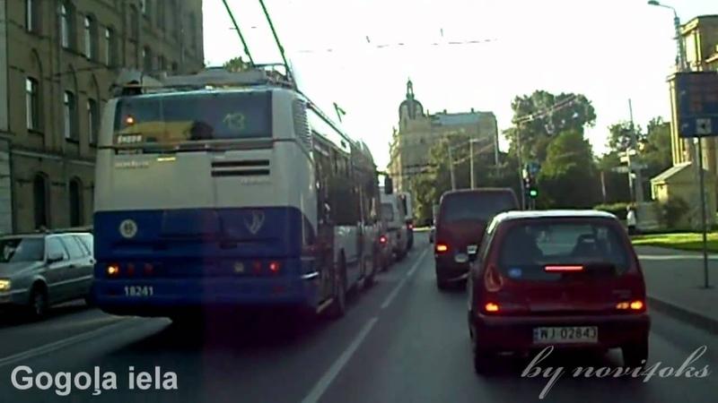 Pilna versija trolejbusa maršruta Nr 20 Latvijas Universitāte Televīzijas centrs