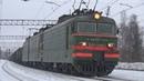 Электровоз ВЛ11.8-588А/586 с грузовым поездом, станция Пожитково БМО ж/д