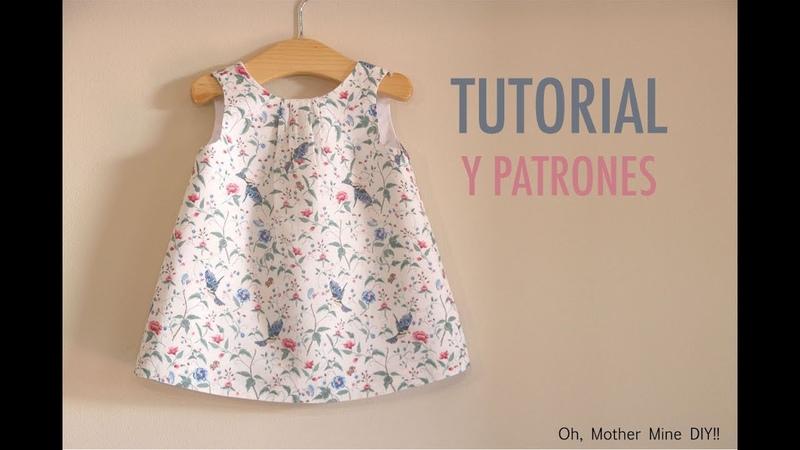Aprender a coser vestido sencillo para niñas (patrones gratis hasta la talla 7 años)