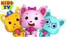 Three Little Kittens | Little Eddie Cartoons | Kindergarten Nursery Rhymes For Children by Kids Tv