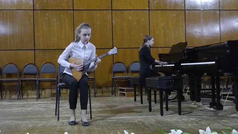 Алина Ткач и Евгения Гнездилова В В Андреев Мазурка №3