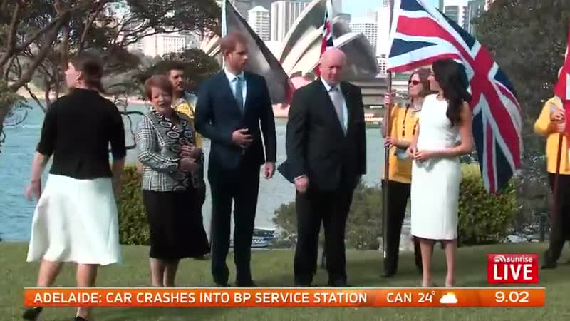 BREAKING The Duke and Duchess official duties start today as they meet with the Governor-General and NSW Premier. - - Look at th