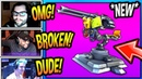 STREAMERS *FIRST TIME USING* NEW MOUNTED TURRET GUN! *EPIC* Fortnite FUNNY SAVAGE Moments