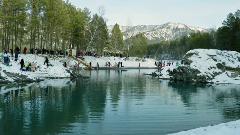 Голубые озера Горный Алтай Blue lake Altai mountains