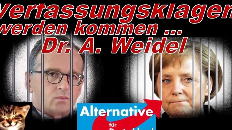 Weidel (AfD) Verfassungsklage wird kommen! Reupload