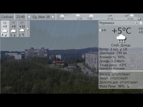Погода. Мурманск. 19-22 июня 19 г.