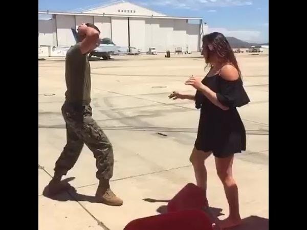 Cat Zingano Leg Kicks Marines