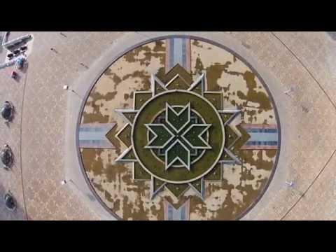 Фонтан Звезда Мордовии с воздуха Саранск