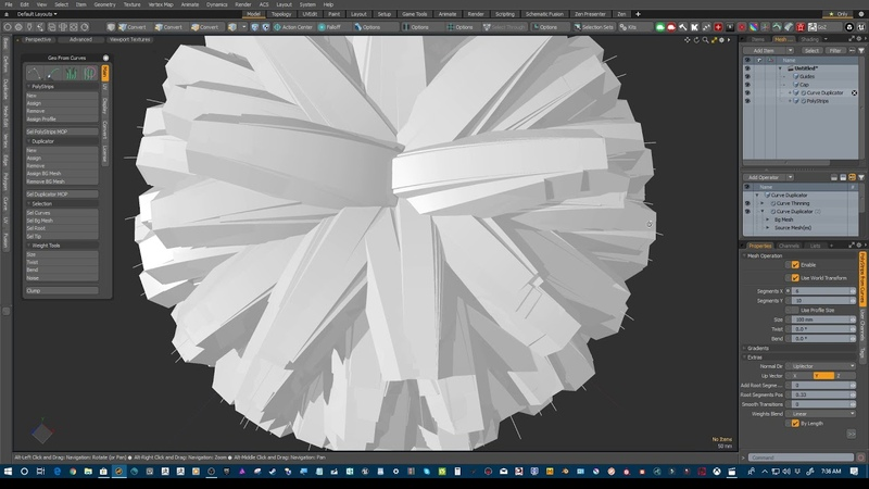 Realistic Hair in Modo 12 viewport using Geo from curves Tutorial