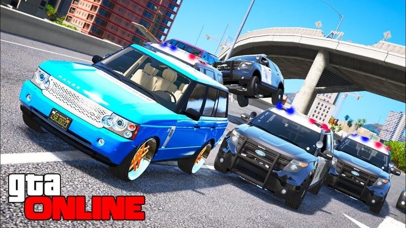 GTA 5 ПОЛИЦИЯ - ПОГОНЯ ЗА LAND ROVER ОТ ПОЛИЦИИ НА Ford Police (ПОЛИЦЕЙСКИЕ ПОГОНИ)!