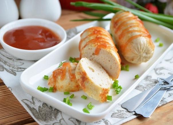 Домашние сосиски с курицей. Попробуйте приготовить!