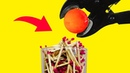 EXPERIMENT Glowing 1000 Degree METAL BALL vs Matches and Rice