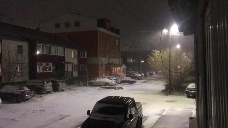 16 октября 2018 на севере) Снежка чуть подвалило)