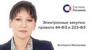 Новые электронные закупки в 44-ФЗ и 223-ФЗ. Система Госзаказ